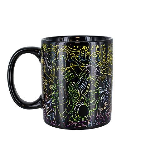 Rick & Morty Thermobecher | empfindlich auf heiße Getränke | Farbe & Design ändert sich bei Hitze | Magische Farbwechsel Kaffee Tee Tasse