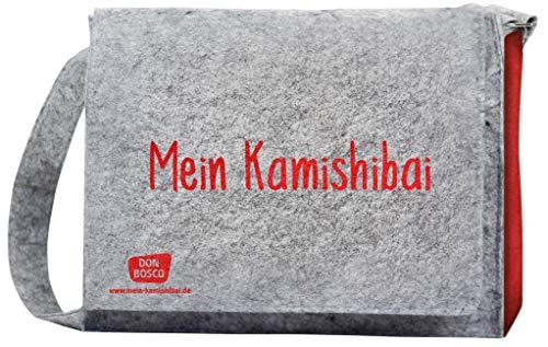 """Umhängetasche \""""Mein Kamishibai\"""". Modell 2019, Grau (Zubehör für das Erzähltheater Kamishibai)"""