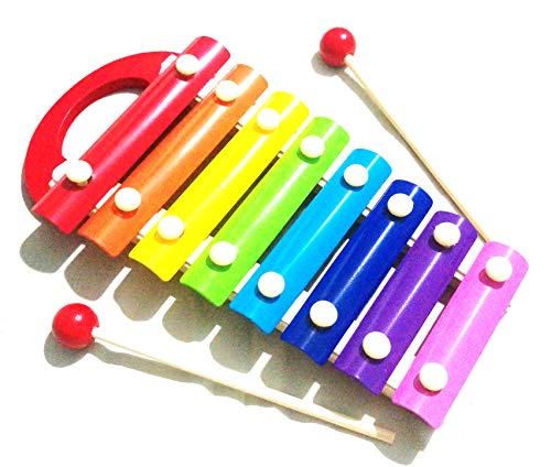 Crafts India Wooden Xylophone Toy, Multicolour