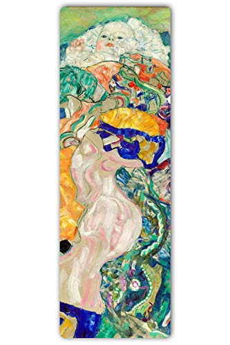 Bild auf Metall Kind Jugendstil Poster Wanddeko Bunt Klimt mehrfarbig 30x90 cm