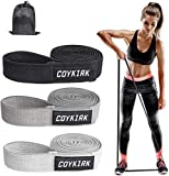COYKIRK Resistance Bands Set, Pull Up Bands, Bands for Working Out Fabric Resistant Bands for Resistance Training, Physical Therapy, Home Workouts (Black, Grey, Light Grey)