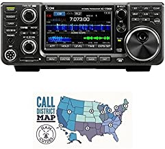 Bundle - 2 Items - Icom IC-7300 HF/50 MHz Base Transceiver with Touch Screen Color TFT LCD, 100 Watts, and Ham Guides Pocket Reference Card