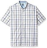 Van Heusen Big and Tall Never Tuck Short Sleeve Button Down Shirt Camisa Abotonada, True Navy Plaid, L/Grande Alto para Hombre
