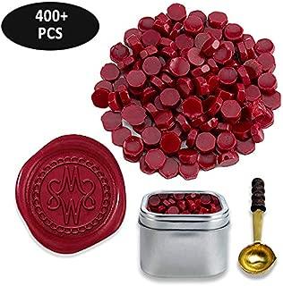 Sealing Wax Beads in Tin-Burgundy