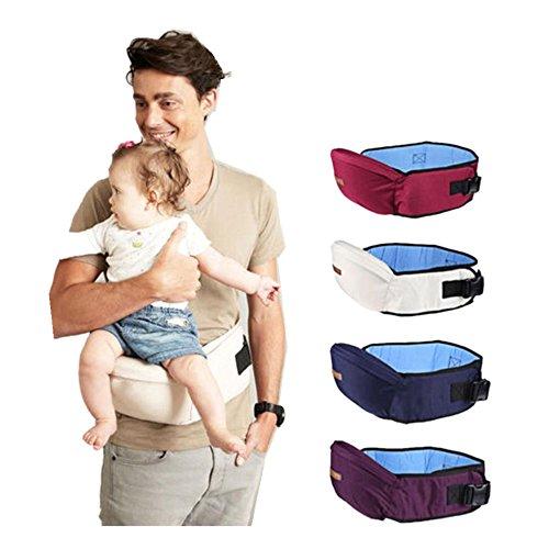QinMM Portabebés hipseat Cinturón Cintura Asimiento Asiento Para Niños Bebé y Niña (Morado)