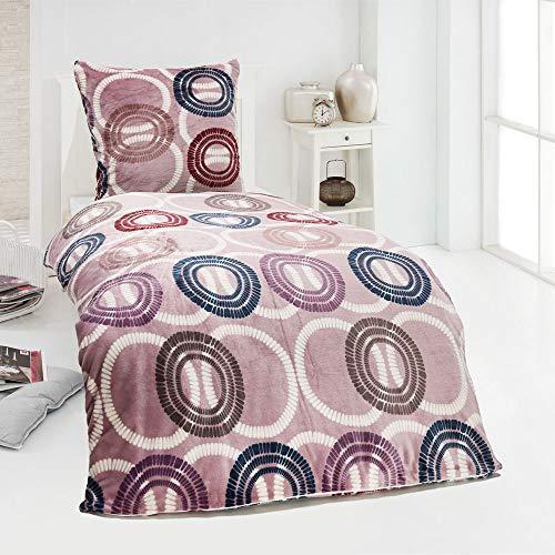 MALIKA Winter Plüsch Bettwäsche Nicky-Teddy Cashmere Coral Fleece 135x200 155x220 200x200 Kissenbezu 80x80, Design - Motiv:Design 5, Größe:135 x 200 cm