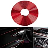 GOADROM Car Interior Moulding Trim,3D DIY 5 Meters Electroplating Color Film Car Interior Exterior Decoration Moulding Trim Strip line by Auto Parts Club (red)…