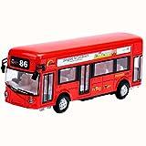 Black Temptation Red Children Toy Car mit Licht und Sound-Effekte London Bus -