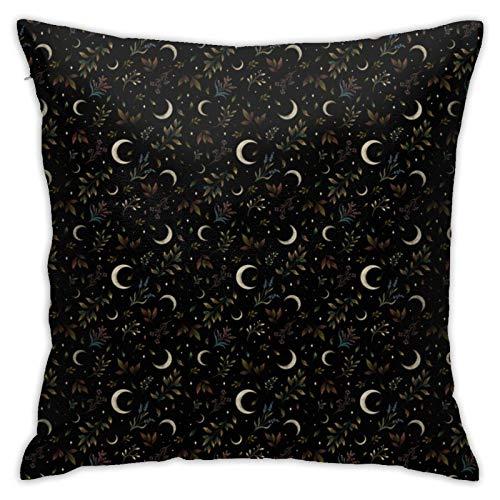 Crescent Moon - Funda de cojín decorativa para sofá (45,7 x 45,7 cm)