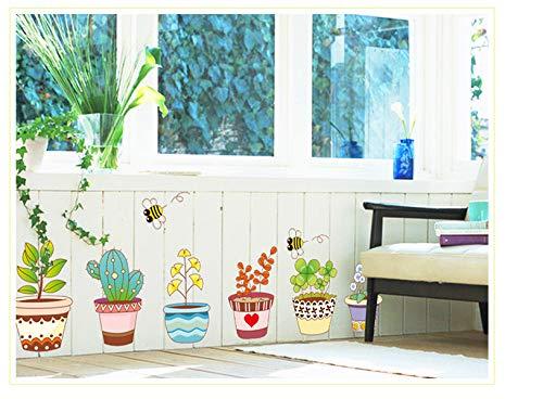Muurstickers, muurstickers, bloempotten kunnen worden verwijderd om de decoratie van het huis te verwarmen.