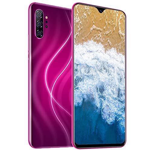 Smartphone Ohne Vertrag 4G - 6,7 Zoll HD, Note20pro 3800mAh Akku, 24MP-Kamera Octa-Core 3GB RAM/32GB ROM, 128GB Erweiterbar Dual SIM Android 10 Handy,Red