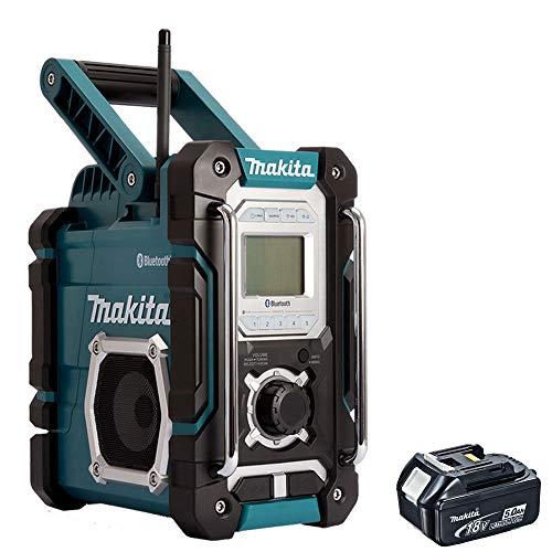 Makita DMR108 18V LXT/10.8v CXT Job Site Radio with 1 x 5.0Ah BL1850 Battery