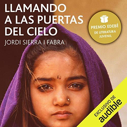 Diseño de la portada del título Trucant a les Portes del Cel (Narración en Catalán)