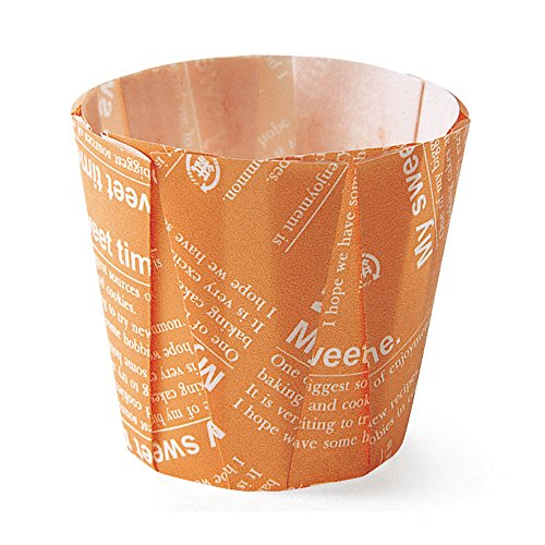 """Price comparison product image Welcome Home Brands Pleated Baking Cups,  Orange,  1.6""""d x 2.2""""h,  Case / 500"""