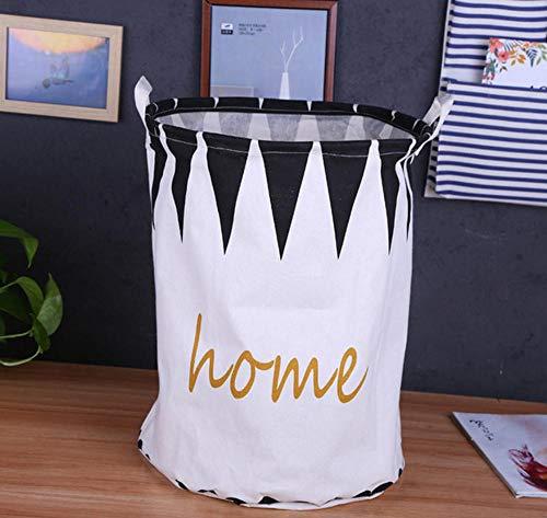 sufengshop Cesta de lavandería de Gran Capacidad de Dibujos Animados a Prueba de Agua Plegable de Lino Cesta de Picnic Almacenamiento de los niños Caja de Juguetes de Acabado orgnizer 40×50cm