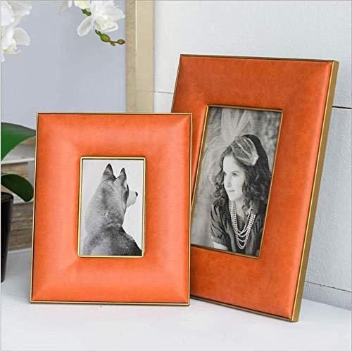 Creatief design mode sieraden PU leder fotolijst fotolijst fotolijst decoratie 6inch