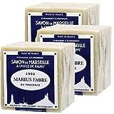 """Marius Fabre Traditionelle Seife """"Savon de Marseile"""" aus Olivenöl, 3 x 200 g"""