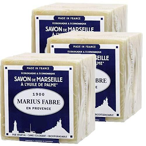 Marius Fabre Lot de 3cubes de 200g de savon de Marseille à l'huile d'olive