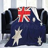 Delerain Flanelldecke mit Australien-Flagge, leicht, gemütlich, weich, für Couch, Sofa, geeignet für alle Jahreszeiten, 152,4 x 203,2 cm, für Kinder, Damen, Herren