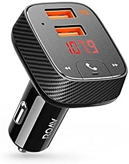 Anker Roav SmartCharge F2 Bluetooth FM Transmitter, Wireless Audio Adapter and Receiver, Bluetooth 4.2, Car Locator, App Support, 2 USB ports, PowerIQ, AUX Out, and USB Drive Slot (Renewed)