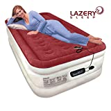 Lazery Sleep Air Mattress Airbed with Built-in Electric 7 Settings Remote LED Pump - Twin 74' x 39' x 17'