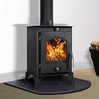 Lincsfire 7.56KW Modern Woodburning Stove Fireplace