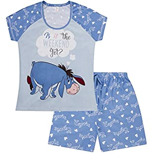Disney Eeyore is It The Weekend Yet ? Short Ladies Women's Pyjamas (8-10)
