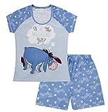 Disney Eeyore is It The Weekend yet - Pijama corto para mujer Azul azul 36