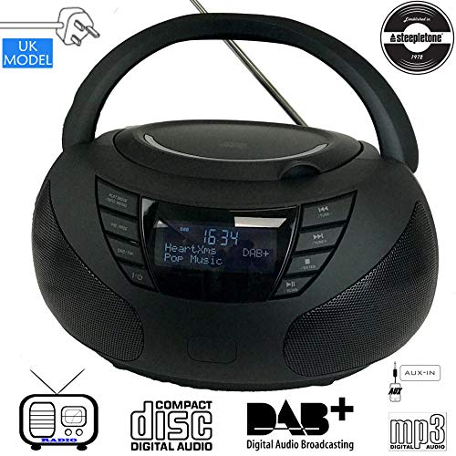 Steepletone DAB Star DAB Radio CD Boombox. Portable Compact CD Player. DAB...