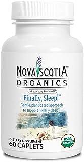 Nova Scotia Organics Finally Sleep! Formula (60 Caplets); Organic; Vegan; Vegetarian; GMO-Free; Valerian; Ashwagandha; Cha...