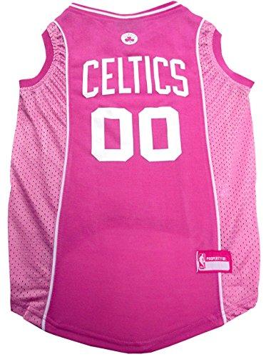 Pets First Boston Celtics Pink Jersey, Small