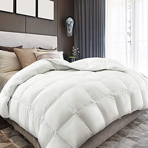 Down Comforter Queen Size Duvet Insert 650FP 55oz Warmth Comforters for Autumn, Winter