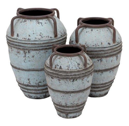 Deco 79Metall Vase, Mehrfarbig, Einheitsgröße