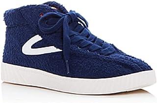 حذاء رياضي نسائي Ny Lite Terry من Tretorn برقبة عالية من قماش التيري الليل/برتقالي مقاس 6M