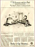 Sheffield Bedroom Suite in 1929 BERKEY & Gay AD Original Paper Ephemera Authentic Vintage Print Magazine Ad/Article