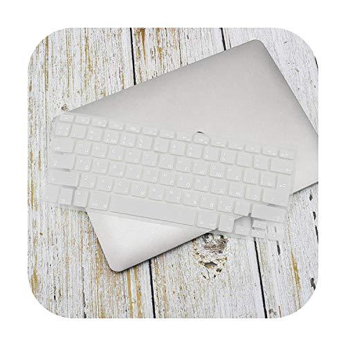 Coque de protection pour clavier anglais russe pour MacBook Pro Air 13 15 en TPU souple et étanche taille unique blanc