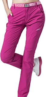 Cool Breathable Waterproof Pants Hiking Pants for Outdoor Sport Women's Summer Pink Quick Dry Pants (Size : XL)