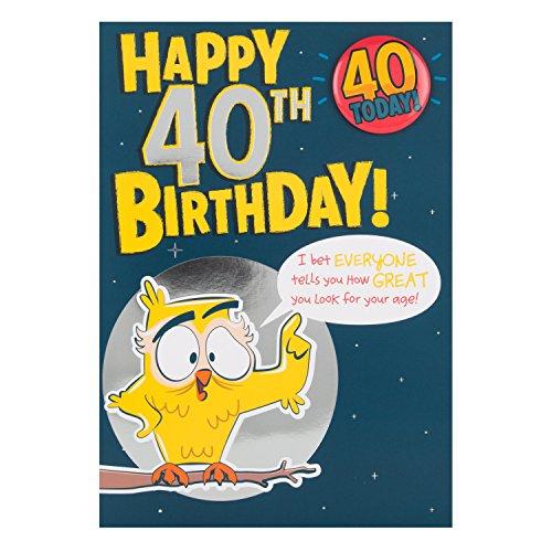 Hallmark-Biglietto Di Auguri Per Il 40° Compleanno\