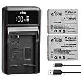 NB-4L Battery and LED Display Charger for Canon PowerShot ELPH 100 HS 300 HS 330 HS 310 HS SD1000 SD1100 is SD1400 is SD200 SD30 SD300 SD40 SD400 SD600 SD750