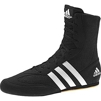 Adidas Box Hog 2 Botas de boxeo lisas, color Negro, talla 43 1/3 EU