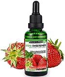 ALPHA POWER FOOD®: Stevia líquida natural - Stevia Gotas de fresas con sabor a fruta, Edulcorante natural, sustituto del azúcar con sabor - sin azúcar & calorías