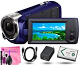 Sony HDR-CX240 Full HD Handycam Camcorder (Blue) + Camera Works...