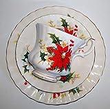 Royal Albert, tazza da collezione, Poinsettia, set da 3 pezzi, originale, Bone China, piccola