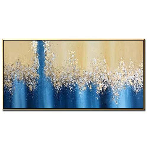 Schilderij Dikke Abstract Goud Art Handgemaakte Mes Canvas Olie Schilderen Muur Art Foto Grote Muur Kunst voor Thuis Woonkamer Hotel Decoratie No frame 50cmx80cm(20x32inch)