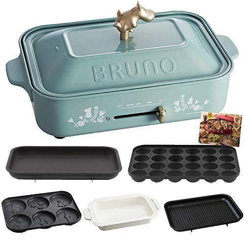 ブルーノのホットプレートには、ムーミンやスヌーピーなど人気キャラクターとのコラボデザインしたものもあり、かわいい絵柄や取っ手がワンポイントになっています。ムーミン谷の仲間たちのキュートなパンケーキも楽しめるのも魅力♪