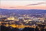 Poster 60 x 40 cm: Skyline Stuttgart von Dieterich