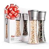figg Design Salz und Pfeffermühle (2er-Set) mit einstellbarem Keramik-Mahlwerk – aus Edelstahl – Auch geeignet als Salzmühle und Gewürzmühle - 2