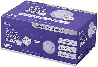 アイリスオーヤマ プリーツマスク ゆったり大きめサイズ 40枚入 PK-NV40LL ホワイト
