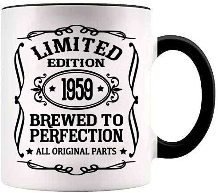 YouNique Designs Funny 60th Birthday Mug 11 Ounces 60th Birthday Coffee Cup For Men And Women All Original Parts
