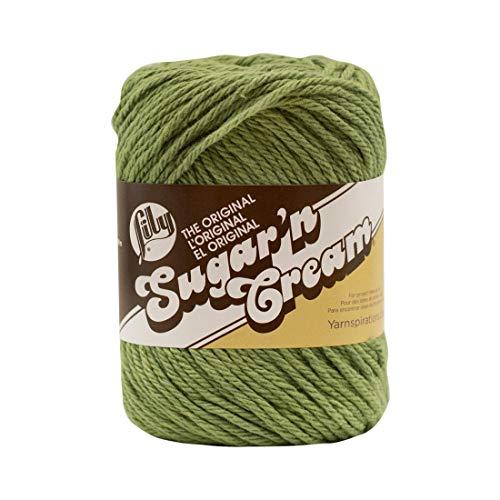 Lily Sugar 'N Cream The Original Solid Yarn, 2.5oz, Medium 4 Gauge, 100% Cotton - Sage Green - Machine Wash & Dry